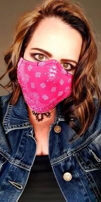 Pink Bandana Sublimation Mask