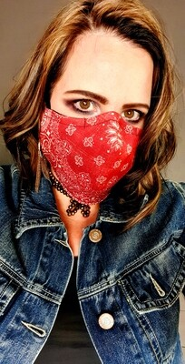 Red Distressed Sublimation Mask