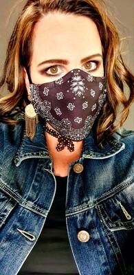 Black Bandanna Sublimation Mask