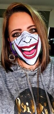 Purple Joker Smile Mask