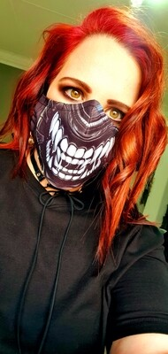 Black Scary Teeth Mask