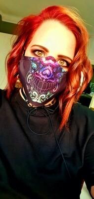 Neon Sugar Skull Mask
