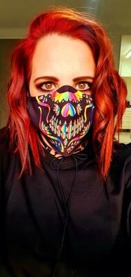 Rainbow Sugar Skull Mask