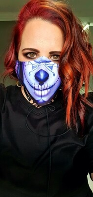 Purple Skull Mask