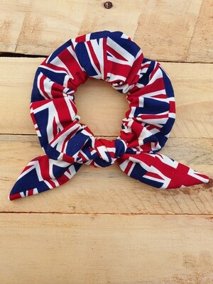 Union Jack Scrunchie