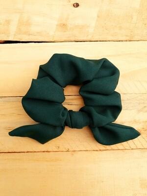Dark Green School Scrunchie