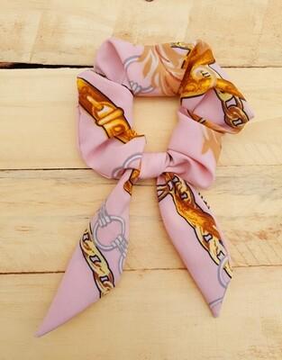 Pink Gold Chain Scrunchie