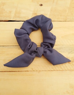 Grey School Scrunchie