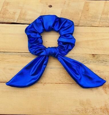 Royal Blue Metallic Scrunchie