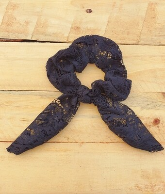 Black Lace Scrunchie