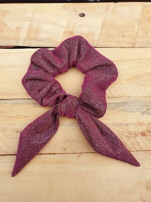 Gold and Purple Glitter Scrunchie