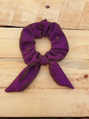 Purple Glitter Scrunchie