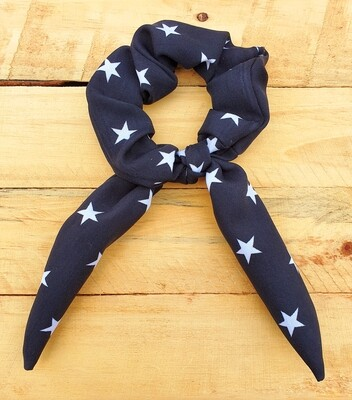 Black Stars Scrunchy