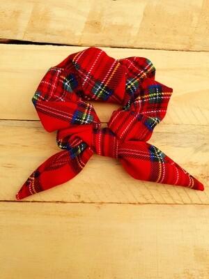 Red Check Scrunchie