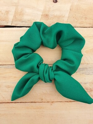 Bright Green School Scrunchy