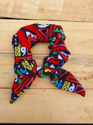 Multi-Color Traditional Print Scrunchie
