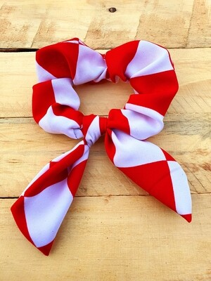 Black and Red Block Scrunchie