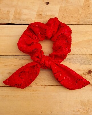 Red Lace Scrunchie
