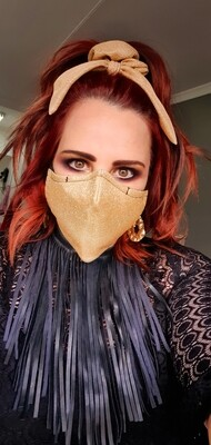Metallic Gold Mask and Scrunchy Set