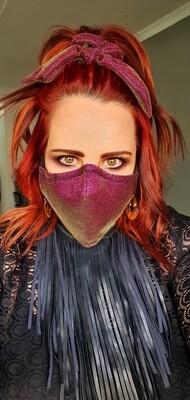 Metallic Purple Mask and Scrunchy Set
