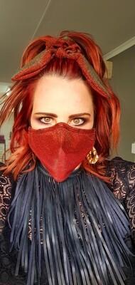 Metallic Rust Mask and Scrunchy Set