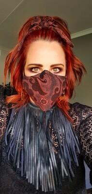 Glitter Rust Mask and Scrunchy Set