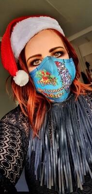 Christmas 2020 Hippo Sublimation Mask
