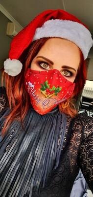 Merry Christmas Sublimation Mask