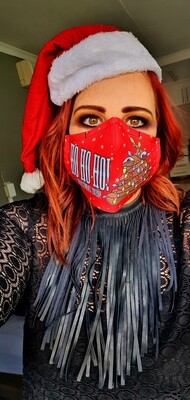 Am I Jolly Enough Red Sublimation Mask