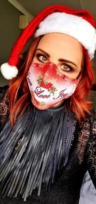 Peace Love Joy Sublimation Mask