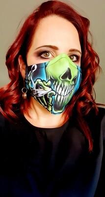 Green Alien Smoking Sublimation Mask