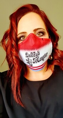 Daddy's Little Monster Sublimation Mask
