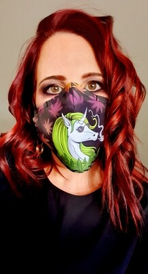 Smoking Unicorn Sublimation Mask