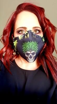 Weed Skull Sublimation Mask