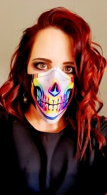 Neon Skull Face Sublimation Mask