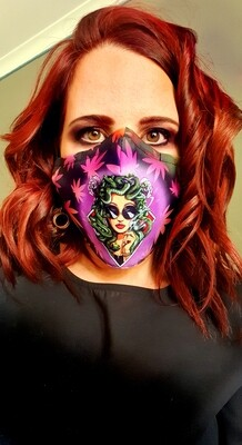 Pink Medusa Sublimation Mask
