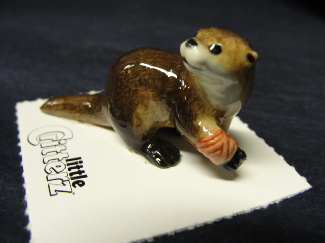 Otter Bandaged Rescue Porcelain Figurine Little Critterz