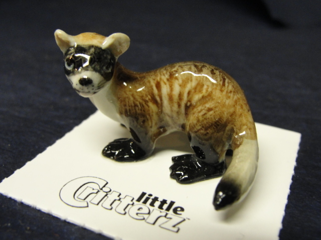 Classic Black Footed Ferret Porcelain Figurine Little Critterz