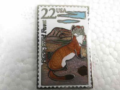 Ferret Postage Stamp Pin