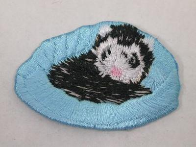 Ferret In Bed Iron On Patch