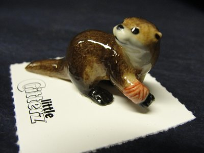 Otter Bandaged Rescue Porcelain Figurine Little Critterz