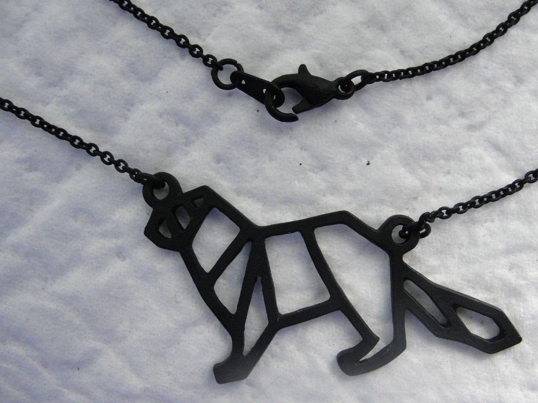 Ferret Outline Necklace