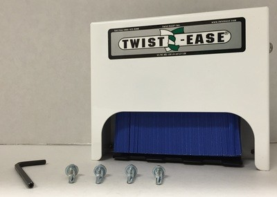 """Twist-Ease 4"""" Dispenser - Lock Box Assembly with Ties"""