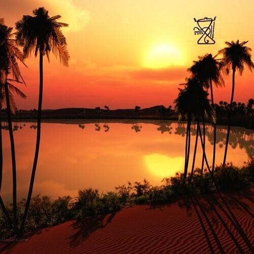 Солнечный Закат в Оазисе