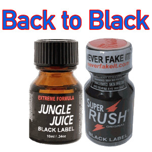 Back to Black 2-PACK (10ml) with Jungle Juice Black and Rush Black Label