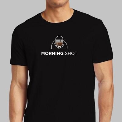Morning Shot Unisex T-Shirt (Black)