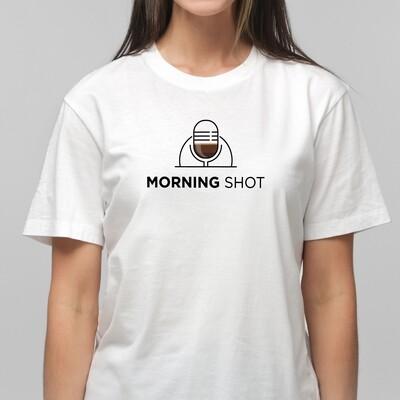Morning Shot Unisex T-Shirt (White)