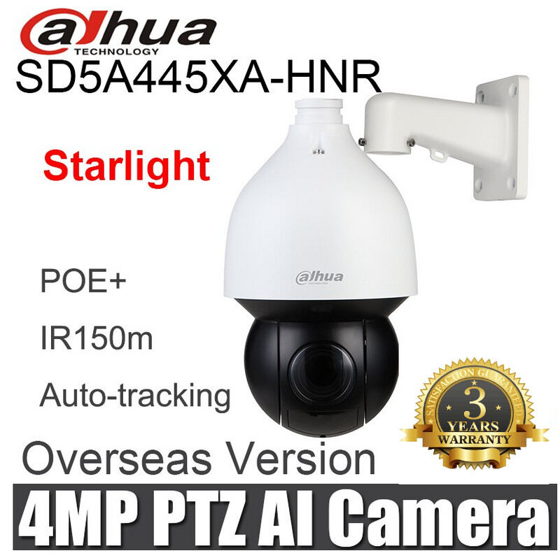 Dahua Smart Tracking DH-SD5A425XA-HNR4MP 25x Starlight IR PTZ AI Network Camera