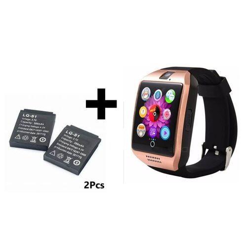 Smart Watch - Q18 Bluetooth Sim Carte - Gold + 2 Batterie