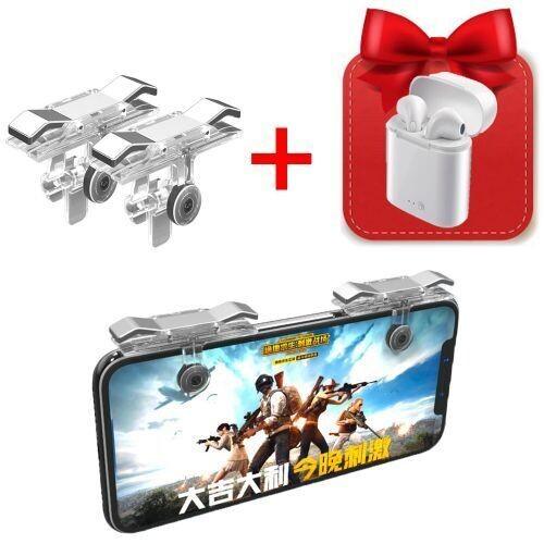 Manette Pour Smartphone Pubg + Cadeau - Android / Ios - E9 - Silver